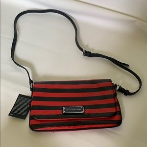 Marc by Marc Jacobs red and black stripe crossbody